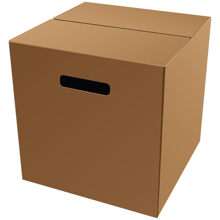 Cardboard packaging box for storage and transportation of goods. Vector illustration. Stock Vector - 16505627