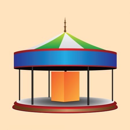 Balagan round whirligig for children. Vector illustration. Иллюстрация