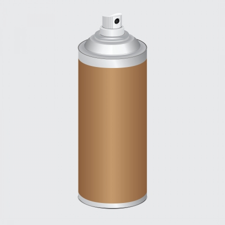 paint container: Bottle with spray for domestic and industrial needs. Vector illustration. Illustration