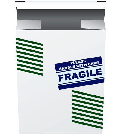 breakable: The label on the packaging for breakable items.