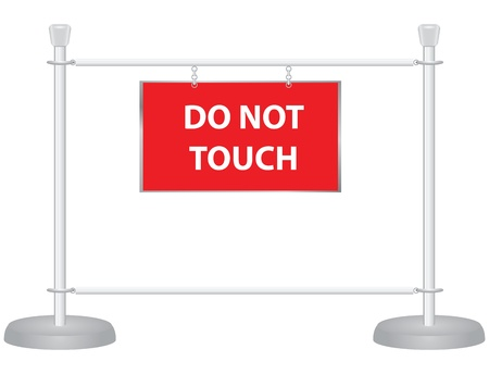 Do not touch the symbol of hands at the exhibition.  Stock Vector - 16726763