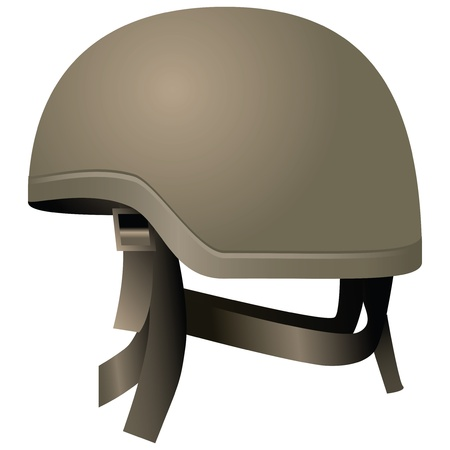 mobilization: Modern combat helmets. Military equipment. Vector illustration.