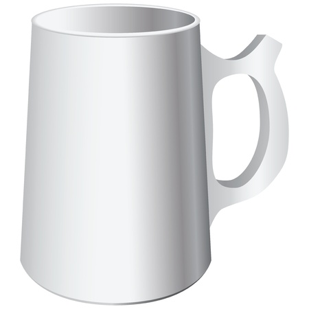 ale: Large ceramic mug of ale and beer. Vector illustration.
