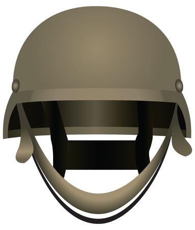 Modern combat helmets. Military equipment.