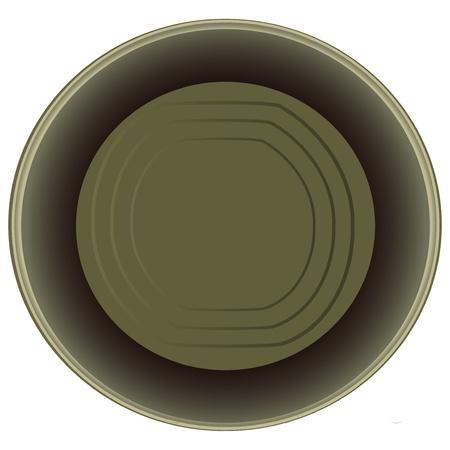 ouvre boite: Ouvrir une bo�te de conserve vide possible. illustration. Illustration