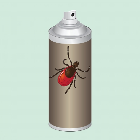 acarus: Spray to control insects, mites.  illustration.