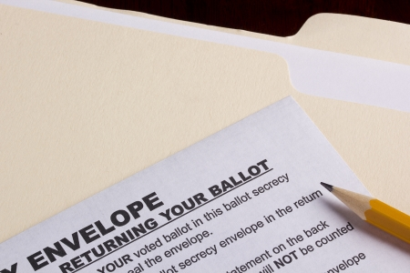 retain: Mailing envelope retain the secrecy. Campaign events. Stock Photo