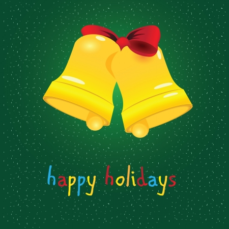 Happy holiday with a bell.