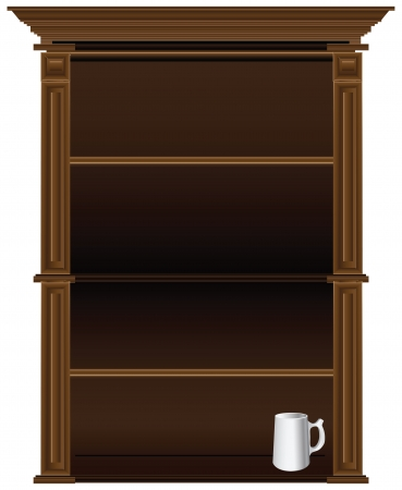 Antique kitchen cupboard in the old style. Stock Vector - 17101915