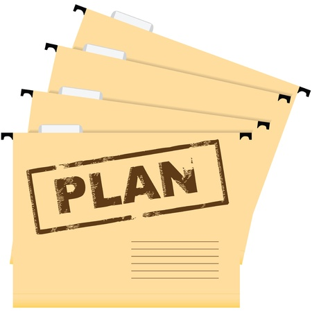 Documents marked with a plan.