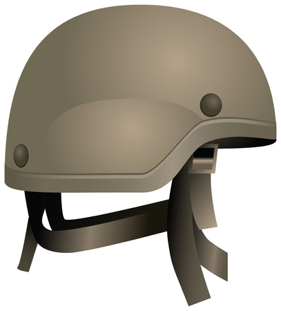 Modern combat helmets. Military equipment.