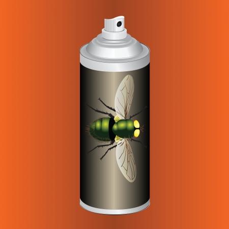 ハエを殺す他の昆虫をスプレー。