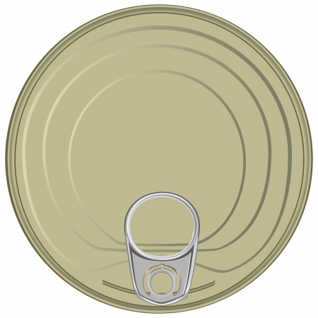 Lid of the can with a device for opening.