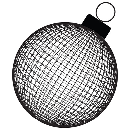 Christmas Toy structural volume of a spherical surface. Vector illustration. 向量圖像