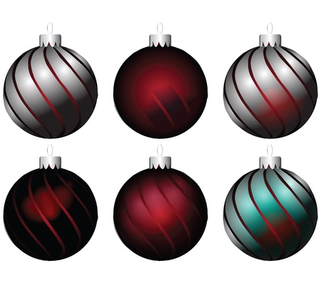 A set of Christmas balls with different effects. Vector illustration. Stock Vector - 17223775