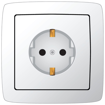 Socket under the European standard. Vector illustration.