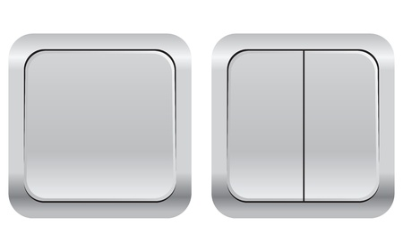 A set of household electrical switches. Vector illustration.