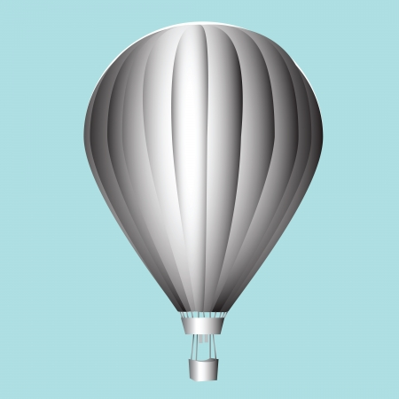 Balloon with a basket. Aeronautics. Vector illustration. Vector