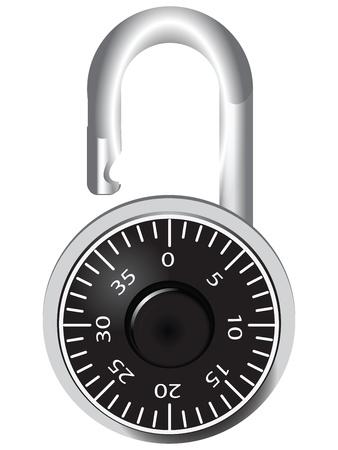 Digital door lock for rooms and lockers. Vector illustration. Ilustração