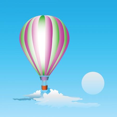 Air balloon in the sky. Stock Vector - 17353406