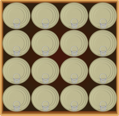 tincan: A drawer full canned goods.