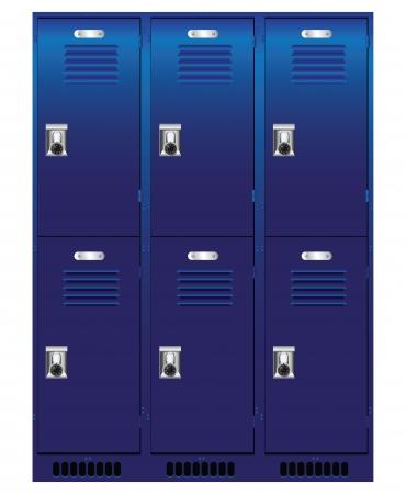 Double jeu de casiers individuels. Vecteurs