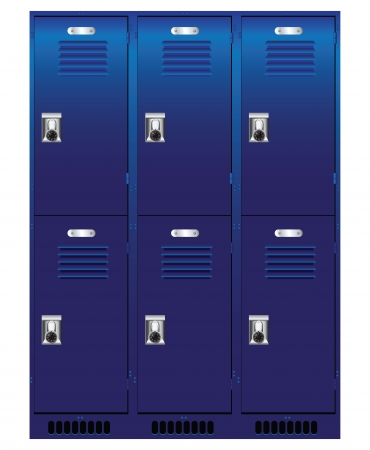 Double set of individual lockers.  Vector