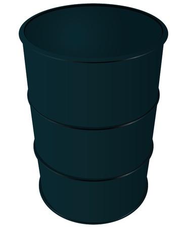 Steel barrel oil. Fuel energy. Stock Vector - 17419417