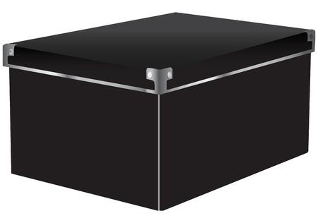 Box voor documenten en dingen die er met stalen hoeken.