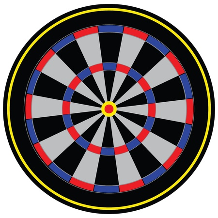 The target for the game of darts. Club game.