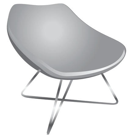 Ergonomic chair for the modern home and office.  Illusztráció