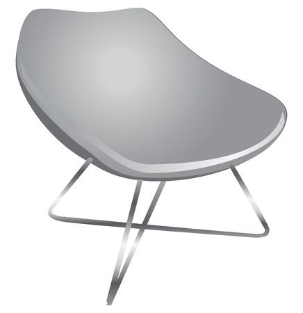 ergonomie: Ergonomischer Stuhl f�r das moderne Zuhause und B�ro. Illustration