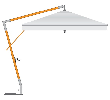 Large industrial umbrella for commercial and household use.  Illustration