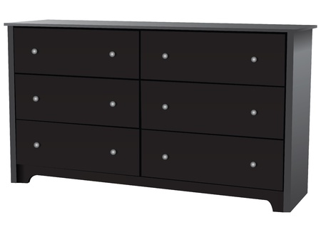 drawers: Dresser with six drawers for bedrooms. Vector illustration.