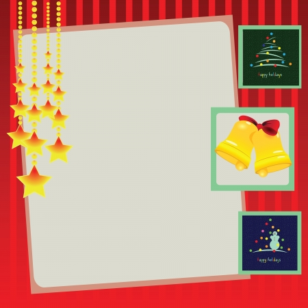Festive background for the winter holidays. Vector illustration. Stock Vector - 17478202