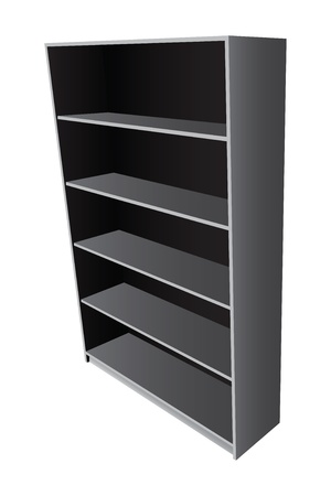 Book office bookcase with five shelves. Vector illustration. Vector