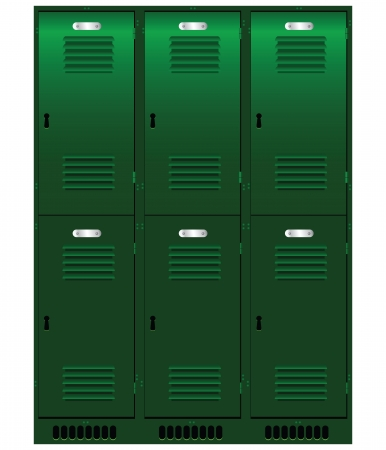 Double set of individual lockers. Stock Vector - 17565545