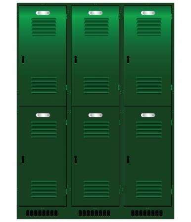 locker: Double set of individual lockers.