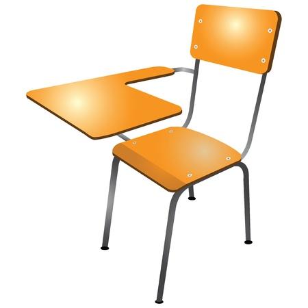 tutor: Silla del estudiante en el aula con el soporte. Vectores