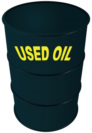 oil and gas industry: Steel barrel oil. Used oil.