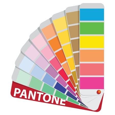 Color samples to determine preferences in the printing industry and construction works. Vector illustration.