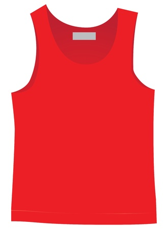 jersey: Mens red jersey for sport. Vector illustration.