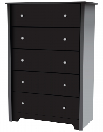 Dresser with five drawers for office and home. Vector illustration. Vector