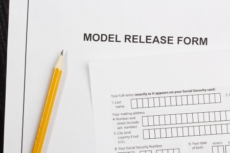 a model release form.