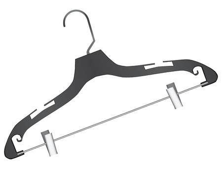 Universal hanger plastic for small items. Vector illustration. Vector