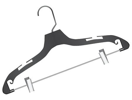 clothing rack: Universal hanger plastic for small items. Vector illustration.