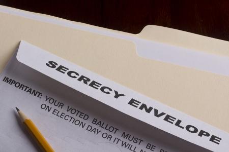 sigilo: Mailing envelope retain the secrecy. Campaign events. Banco de Imagens