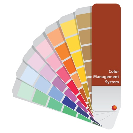 color swatch book: Color samples to determine preferences in the printing industry. Vector illustration. Illustration