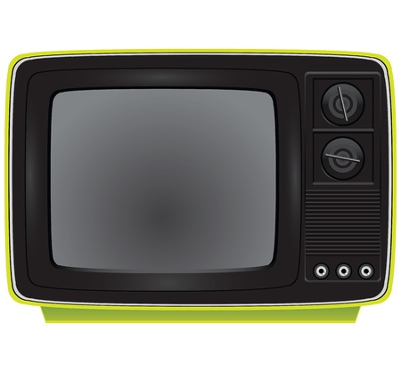Old portable color TV. Electronics. Vector illustration. Ilustrace