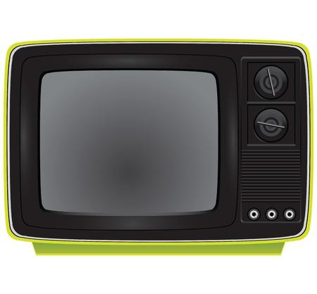 Old portable color TV. Electronics. Vector illustration. 向量圖像